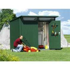 These top of the range metal garden buildings are manufactured in Austria, to exceptional levels of quality and design. Made from 0.55mm Hot Dipped Galvanised steel cladding, further coated with a primer coat, then two polyester paint coats both inside and out.