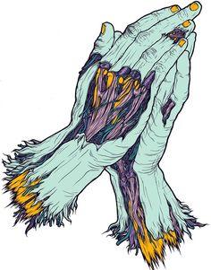 zombies - Page 4 Digital Illustration, Zombie Drawings, Art Drawings, Art Zombie, Arte Black, Skateboard Design, Lowbrow Art, Horror Art, Tatoo