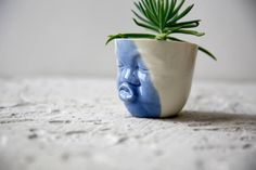 Ceramic succulent planter,flower pot ceramic,modern planter,pottery planter,small succulent pot,cactus planter,head planter,desk planter    Looking for a beautiful home for your new little succulent? You found it! This whimsy and so cute kissing planter will make a beautiful addition to any home or office garden! Its perfect for succulents, herbs, or any other small house plants.  Great gift idea for your family or your lovely friend for any occasion! This listing is for ONE small planter…