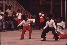 Black Youngsters Performing On An Empty Lot At 5440 South Princeton Avenue On…