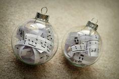 bastelideen zu weihnachten notenpapier