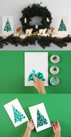 Laissez parler son âme d'artiste: bébé fait lui-même les cartes de vœux! #cartedevoeux