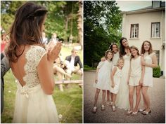 A colourful, hippie chic wedding in France filled with hearts and fun details. The bride wore a Claire Pettibone wedding dress. Long Gown For Wedding, Chiffon Wedding Gowns, New Wedding Dresses, Bridal Dresses, Lace Wedding, Formal Wedding, Wedding Blog, Hippie Chic Weddings, Boho Chic Wedding Dress