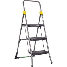 Cosco Commercial Three-Step Stool, Multicolor