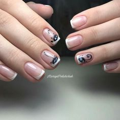 47 ideas for nails design frances french manicures ideas Cat Nail Art, Cat Nails, French Nails, French Manicures, Nail Manicure, Nail Polish, Watermelon Nails, Magic Nails, Nagel Gel