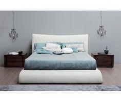 Novamobil Designer Polsterbett Botero weiß   Nova Mobile Designer upholstered bed Botero white like heaven