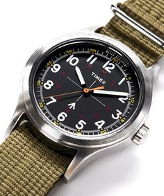 Since Timex has been crafting high quality, affordable watches for all. Over the years their designs have become an icon of watch making, even if they haven't got the cache of a Swiss timepiece. Watches For Men Unique, Fossil Watches For Men, Affordable Watches, Luxury Watches For Men, Cool Watches, Expensive Watches, Field Watches, Wrist Watches, Simple Watches