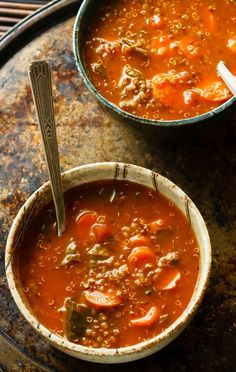 Low FODMAP Soup Recipe | filling, satisfying and non-irritating for IBS sufferers | http://eathealthyeathappy.com