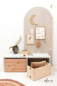 Girl Room, Baby Room, Kids Room Organization, Bench With Storage, Decoration, Playroom, New Homes, House Design, Interior