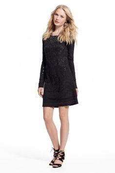 Embellished knit dress.