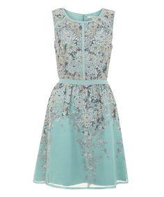 Love this Pale Blue Chrysanthemum A-Line Dress on #zulily! #zulilyfinds