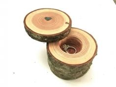 Ideal For Rustic Wedding - Birch Heart Box, Ring Box,ring Box  $40