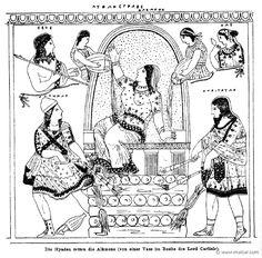 RI.2-2755.jpg - RI.2-2755: The Hyades saving Alcmena. Wilhelm Heinrich Roscher (Göttingen, 1845- Dresden, 1923), Ausfürliches Lexikon der griechisches und römisches Mythologie, 1884.