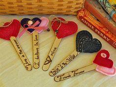 Heart Bookmarks using Lollipop Sticks