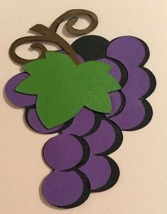 Table Grapes Fruit Die Cut Handmade with Card Stock | eBay