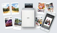 The Fujifilm Instax Share is a handheld photo printer that creates credit-card sized pictures you take with your smartphone. Fujifilm Instax, Fuji Instax, Smartphone Printer, Portable Printer, Wireless Printer, Printer Scanner, Printer Paper, Instax Printer, Polaroid Printer