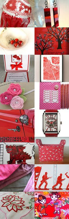Red and Pink Highlights by Veddma on Etsy--Pinned with TreasuryPin.com