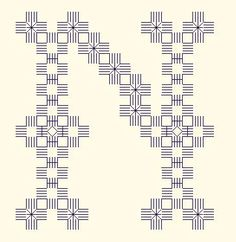 Hardanger alphabet patterns free on a french site - lots of free Xstitch and hardanger patterns