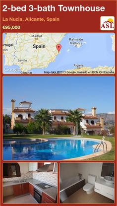 2-bed 3-bath Townhouse in La Nucia, Alicante, Spain ►€95,000 #PropertyForSaleInSpain