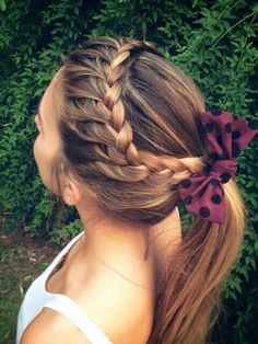 Lace braid to ponytail