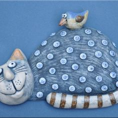Cat Doll, Cat Drawing, Ceramic Pottery, Cat Art, Cats And Kittens, Biscuit, Clay, Sculpture, Dolls