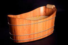 Holzbadewanne von Balubad – Eintauchen in die Natur Bathtub, Bathroom, Bathing, Nature, Standing Bath, Washroom, Bath Tube, Bath Tub, Bathrooms