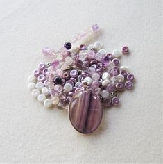S Diy Jewelry Kit, Jewelry Making Beads, Crimp Beads, Bead Kits, Purple Glass, Ceramic Beads, Acrylic Beads, Round Beads, Gemstone Jewelry