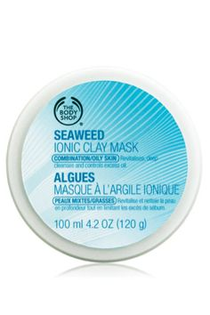 The Body Shop Seaweed Ionic Clay Mask. I love this mask. It's a bit on the pricey side but its thick and spread well so it last. Great for purifying and cleaning out your pores. The Body Shop, Body Shop At Home, Moisturizer For Dry Skin, Oily Skin, Sensitive Skin, Body Shop Online, Body Shop Australia, Clay Faces, Glow