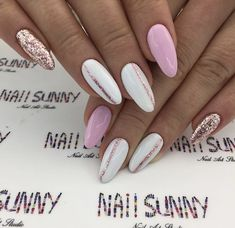 "- ""Gelnaildesignsforsummer"" - -- - ""Gelnaildesignsforsummer"" - - nail art Девочки, не забывайте ставить лайк💋 и подписаться))) Самые красивые идеи маникюра💅 🌺Маникюр… 23 beautiful prom nails for your big night Lo 😻 what? Aycrlic Nails, Hot Nails, Pink Nails, Nail Manicure, Color For Nails, Nail Colors, Stylish Nails, Trendy Nails, Summer Nails 2018"