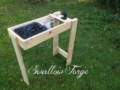 Building a simple homemade Blacksmith's Forge - Swallow Forge - YouTube