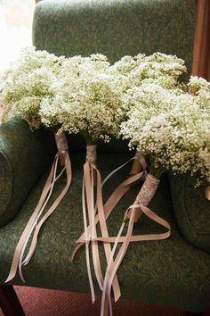 Ideas For Wedding Flowers Vintage Bouquet Babies Breath Vintage Wedding Flowers, Flower Bouquet Wedding, Bridesmaid Bouquet, Floral Wedding, Flower Bouquets, Gypsophila Bouquet, Bridal Bouquets, Wedding Bridesmaids, Chic Wedding