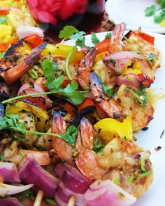 There are so many recipes for marinating shrimp for grilling and I think all of them are great!   As for my marinating recipe below, I guara...