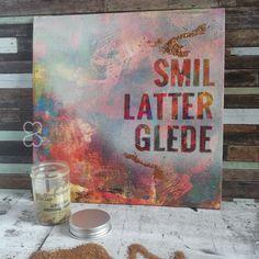Smil, Latter, Glede - Akrylmaling på lerretsplate Books, Art, Art Background, Libros, Book, Kunst, Performing Arts, Book Illustrations, Libri