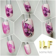 54 отметок «Нравится», 1 комментариев — Ivonne Retz (@ivonne_retz) в Instagram: «Gelpainting  www.ilf-store.de #ivonne_retz #ilfnails #nailart #naildesign #nails #gelnails…»
