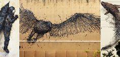 Αστική και σύγχρονη τέχνη μέσα από τα έργα του καλλιτέχνη DAL – Street Art Street Art, Bird, Contemporary, Animals, Animales, Animaux, Birds, Animal, Animais