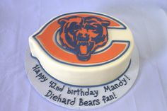 Chicago Bears Birthday Cake (My Sweet Austin) Bear Birthday, Birthday Cakes, Birthday Parties, Chicago Bears Cake, Wedding Stuff, Wedding Ideas, Bear Party, Bear Cakes, Halloween Cakes