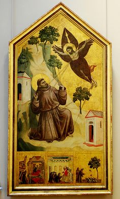 St Francis sees Christ in the form of a Seraph.