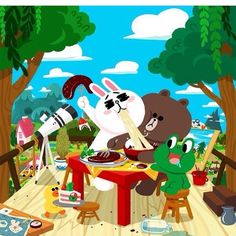 Cartoon Gifs, Cartoon Movies, Line Cony, Cony Brown, Cute Couple Cartoon, Brown Line, Friends Wallpaper, Line Friends, Wallpaper Iphone Cute