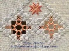 Animated demonstrations of stitches used in Hardanger needlework. Techniques include creating Kloster Blocks, Woven Bars, Dove's Eyes, Buttonhole Corners, an. Types Of Embroidery, Learn Embroidery, Embroidery Patterns, Hand Embroidery, Hardanger Embroidery, Cross Stitch Embroidery, Bookmark Craft, Drawn Thread, Sunbonnet Sue