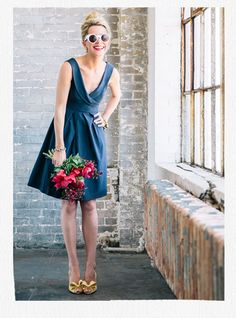 style   4 wedding guest looks   styled & modeled by atlantic pacific   via: BHLDN