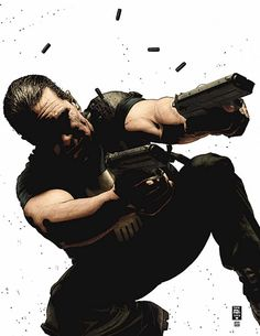 Punisher by Tim Bradstreet Punisher Characters, Punisher Comic Book, Punisher Comics, Female Comic Characters, Marvel Comics Art, Marvel Vs, Captain Marvel, Punisher Max, Comic 8