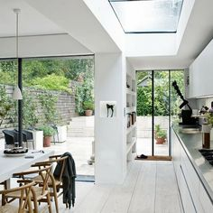 open to garden/patio LOVE this kitchen