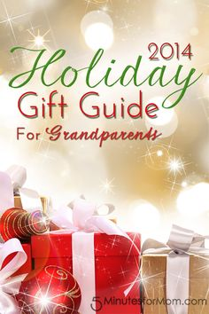 Holiday Gift Guide for Grandparents. Several great gift ideas for Grandparents from @5minutesformom