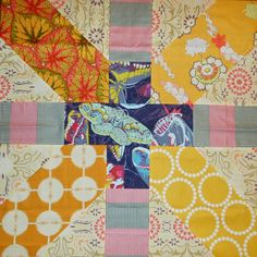 she can quilt: Karen's Giant x and + Block - a 2013 FAL Tutorial What I like about this is she does an extra seam away so that when you make the cut on the plus part, you get a little half square triangle. Vs just scrap to throw Quilting Blogs, Quilting Tutorials, Quilting Projects, Quilting Designs, Quilting Ideas, Quilt Design, Scrappy Quilts, Easy Quilts, Small Quilts