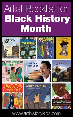 Artist Books Celebrating Black History Month: Faith Ringgold, Gordon Parks, Basquiat, and Jacob Lawrence Black History Books, Black History Month, History For Kids, Art History, Ancient History, Best Books List, Book Lists, African American Artist, American Artists