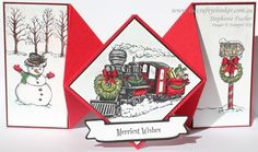Stampin Up, #thecraftythinker, Diamond Fold, Christmas card, Christmas Magic