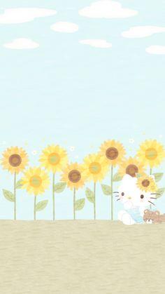 Sanrio Wallpaper, Bear Wallpaper, Iphone Background Wallpaper, Kawaii Wallpaper, Hello Kitty Pictures, Kitty Images, Hello Kitty Backgrounds, Hello Kitty Wallpaper, Melody Hello Kitty