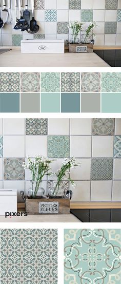 Our new products are already on our site. TILES STICKER are here! Do you want to make some changes, but are afraid of a mess which will go with it? No worries! With us you have an easy way to change it.in a clean way. :) Check this out! Home Renovation, Home Remodeling, Rv Interior Remodel, Tile Stickers Kitchen, Kitchen Decor, Kitchen Design, Kitchen Wallpaper, Home Upgrades, Easy Home Decor