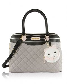 8a13a663f8 Betsey Johnson Dome Diaper Satchel Bag - Grey - Sure to be an instant  favorite For