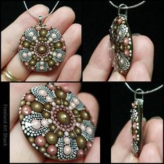 This item is unavailable Dot Art Painting, Mandala Painting, Mandala Art, Stone Painting, Mandala Design, Mandala Jewelry, Boho Jewelry, Pendant Jewelry, Jewelry Crafts